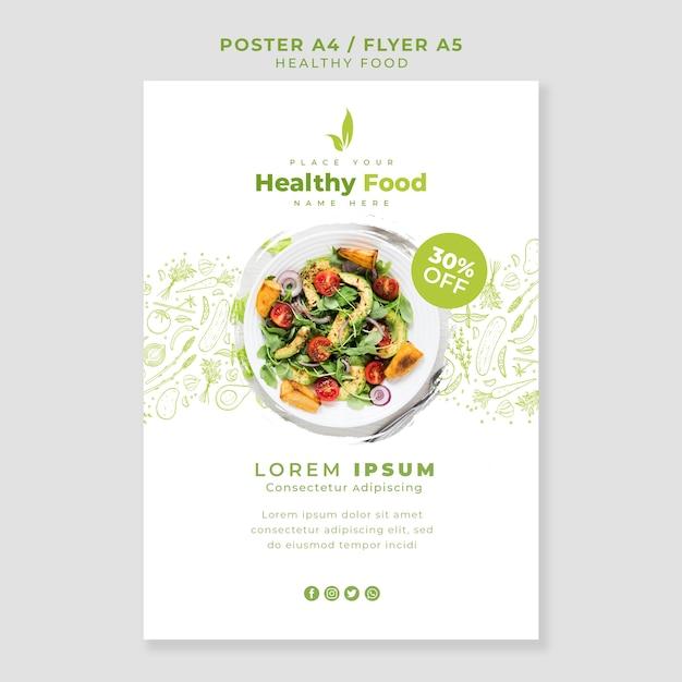 Modello di poster / flyer ristorante Psd Gratuite
