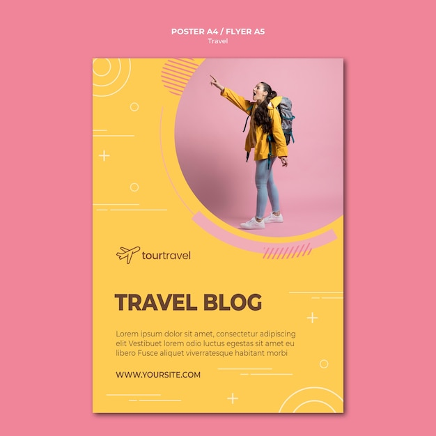 Modello di poster per blocco itinerante Psd Gratuite