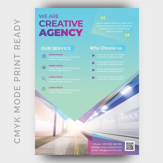Modello di progettazione moderna flyer business flyer creativa Psd Premium