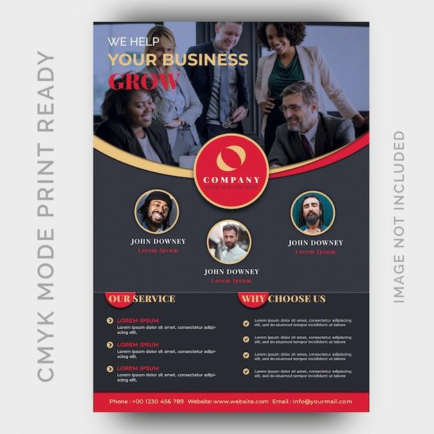 Modello di progettazione moderna flyer business Psd Premium