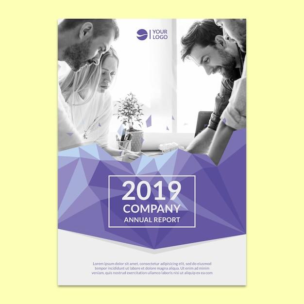 Modello di relazione annuale aziendale Psd Gratuite