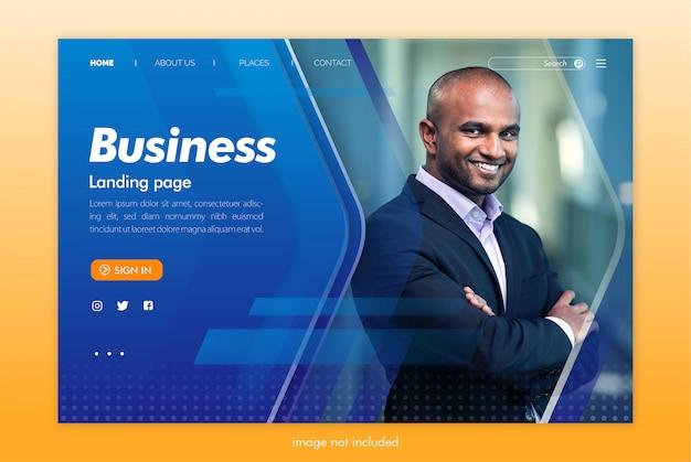Modello di sito web della pagina di destinazione aziendale Psd Premium