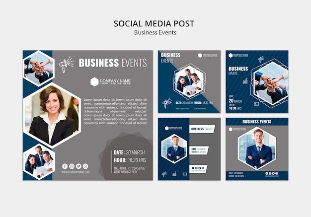 Modello di social media aziendali Psd Gratuite