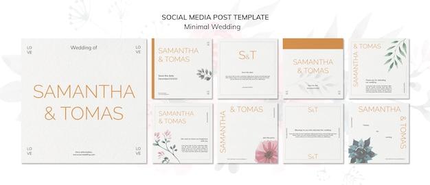 Modello di social media invito matrimonio minimo Psd Gratuite