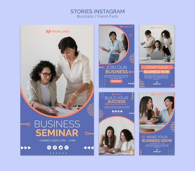 Modello di storie di instagram con il concetto di evento aziendale Psd Gratuite