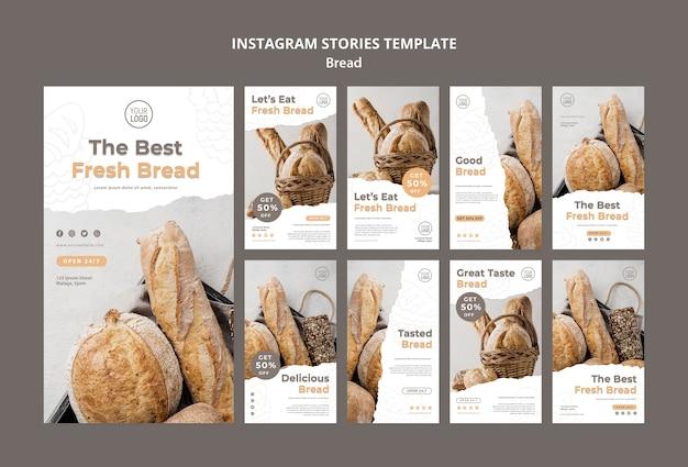 Modello di storie di instagram di pane Psd Gratuite