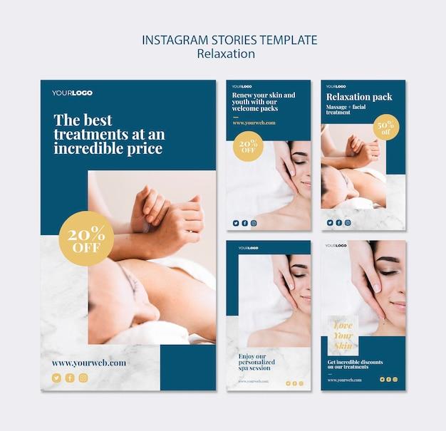 Modello di storie di instagram trattamento spa Psd Gratuite