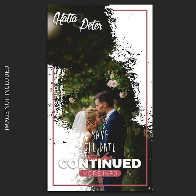 Modello di storie di nozze di instagram Psd Premium