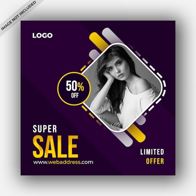 Modello di vendita post social media Psd Premium