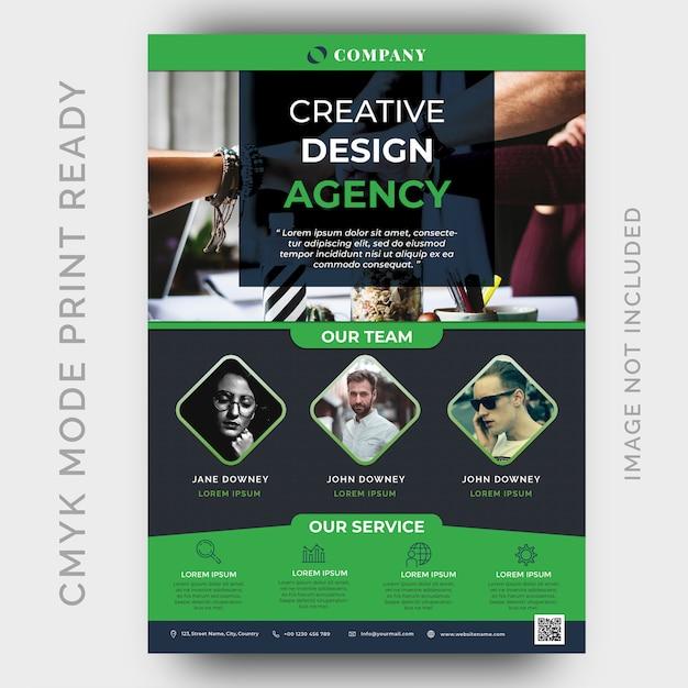 Modello di volantino aziendale moderna agenzia creativa Psd Premium