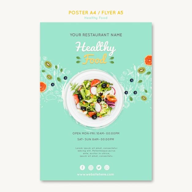 Modello di volantino di cibo sano Psd Gratuite
