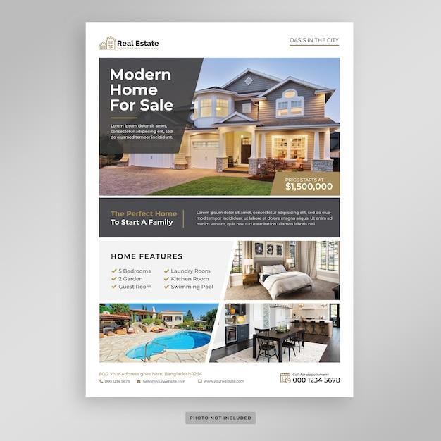 Modello di volantino di marketing immobiliare Psd Premium