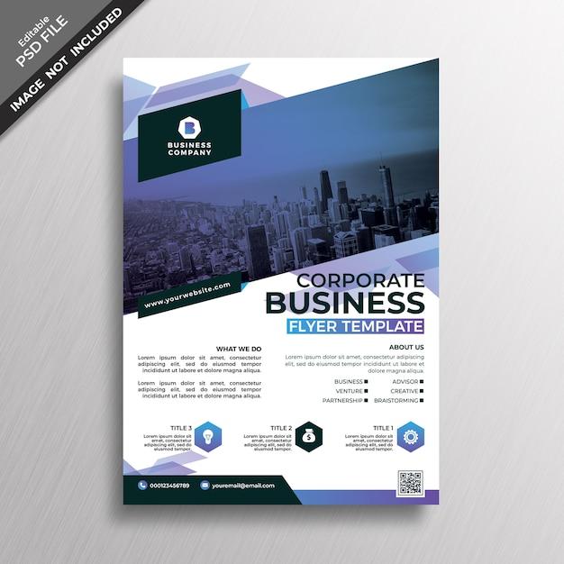 Modello di volantino di stile geometria aziendale business Psd Premium