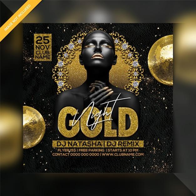 Modello di volantino festa di notte d'oro Psd Premium