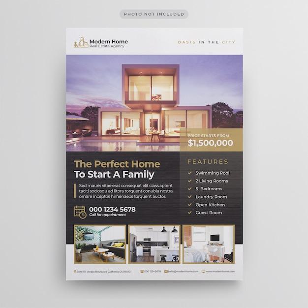 Modello di volantino immobiliare Psd Premium