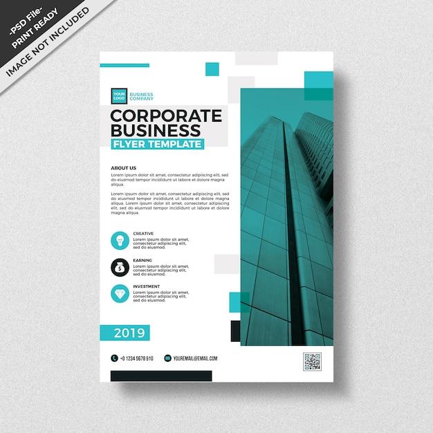 Modello di volantino moderno business aziendale ciano Psd Premium
