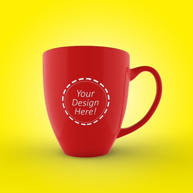 Modello editabile del modello del modello di caffè mug Psd Premium
