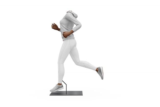 Modello femminile dell'attrezzatura di sport isolato Psd Gratuite