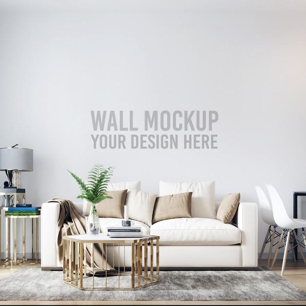 Modello interno del fondo della parete del salone Psd Premium
