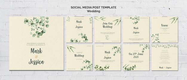 Modello post matrimonio social media Psd Gratuite