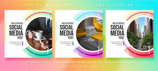 Modello psd post social media multiuso Psd Premium