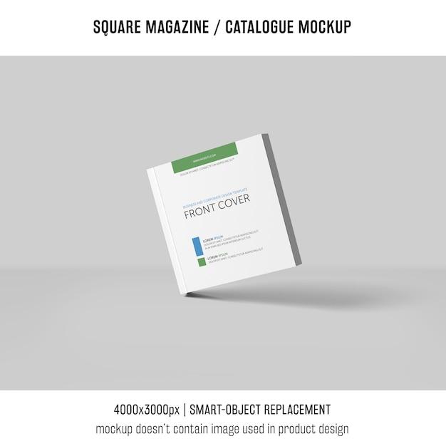 Modello quadrato o catalogo mockup con ombre Psd Gratuite
