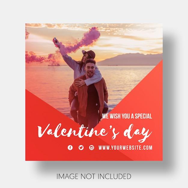 Modello sociale felice san valentino Psd Gratuite
