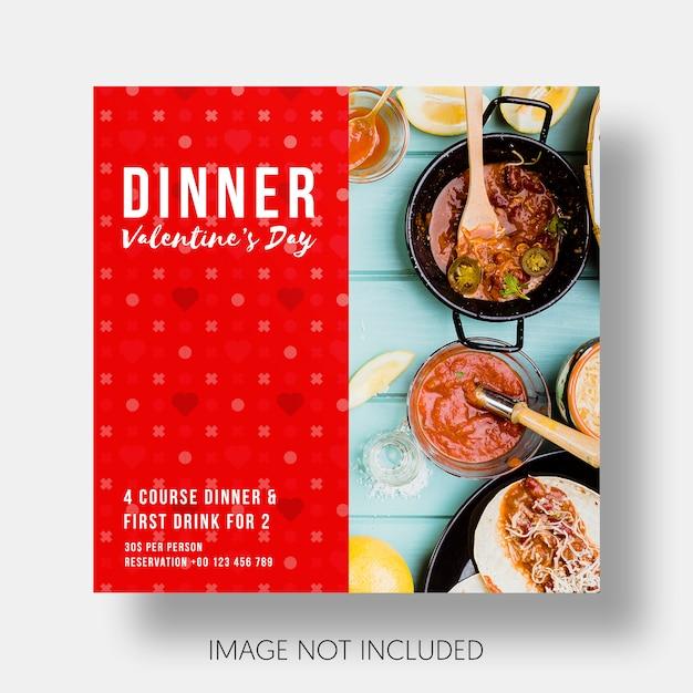Modello sociale ristorante san valentino Psd Gratuite