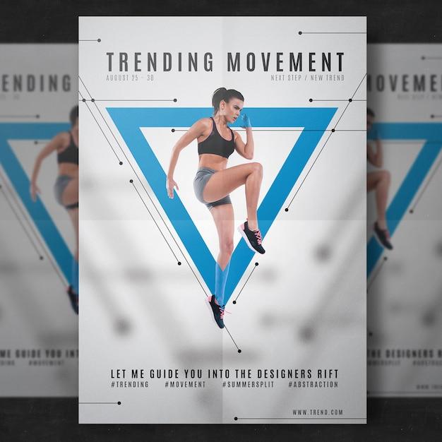 Modelo de folheto de fitness Psd grátis