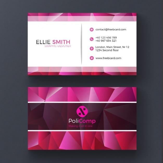 modelo do cartão de poli roxo Psd grátis
