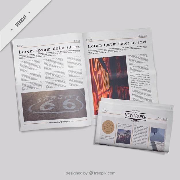 Modelos de periódico PSD gratuito