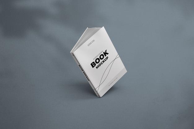 Modern boekmodel met boomschaduw Premium Psd