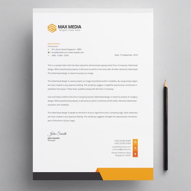 Modern briefpapier van het bedrijf Premium Psd