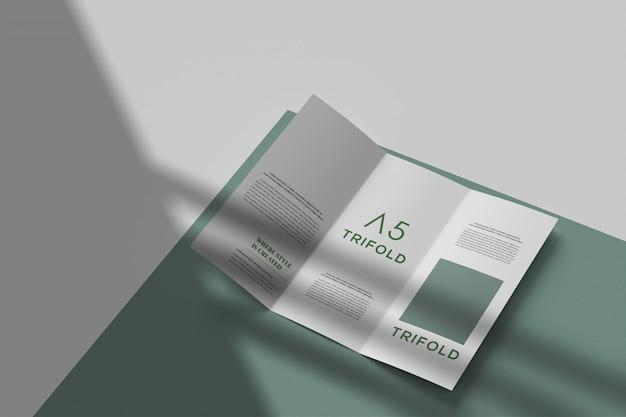 Modern driebladig brochuremodel Premium Psd