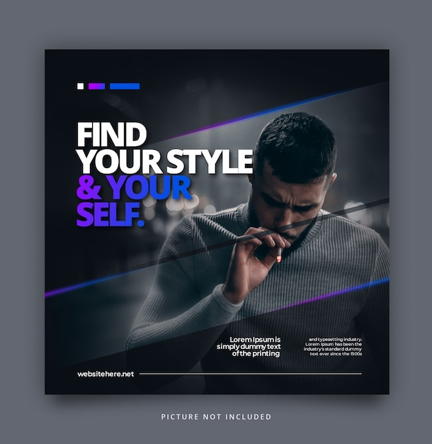 Modern dynamisch instagramtemplate Premium Psd