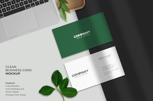 Modern en schoon visitekaartje Premium Psd