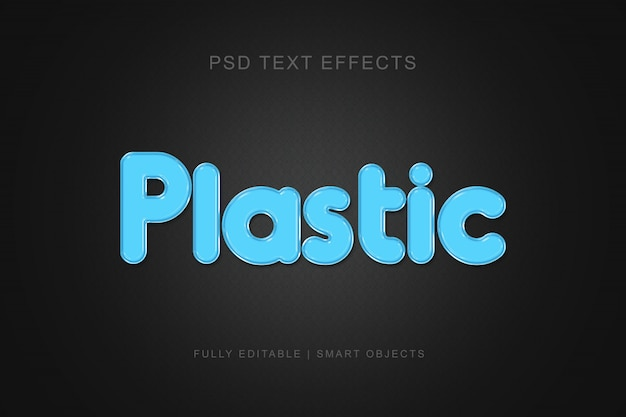 Modern grafisch plastic stijl teksteffect Premium Psd