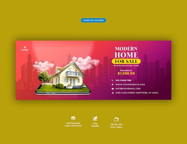 Modern huis te koop banner Premium Psd