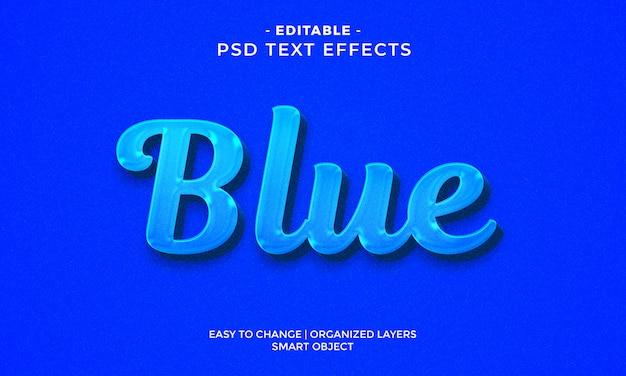 Modern kleurrijk blauw teksteffect Premium Psd