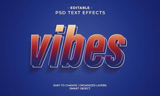 Modern kleurrijk vibes-teksteffect Premium Psd