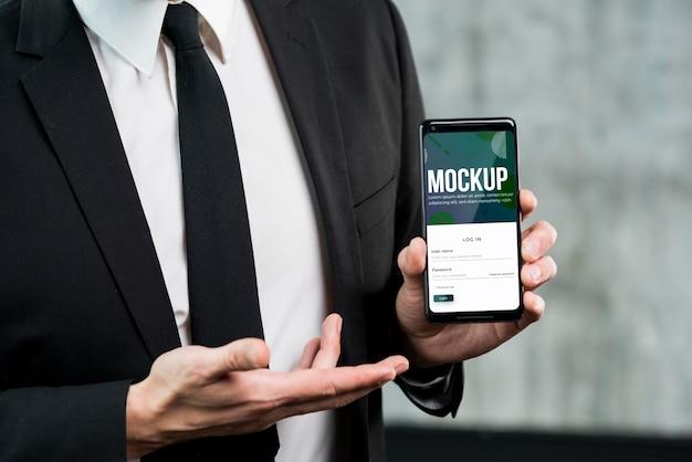 Modern mensenconcept met mock-up Gratis Psd