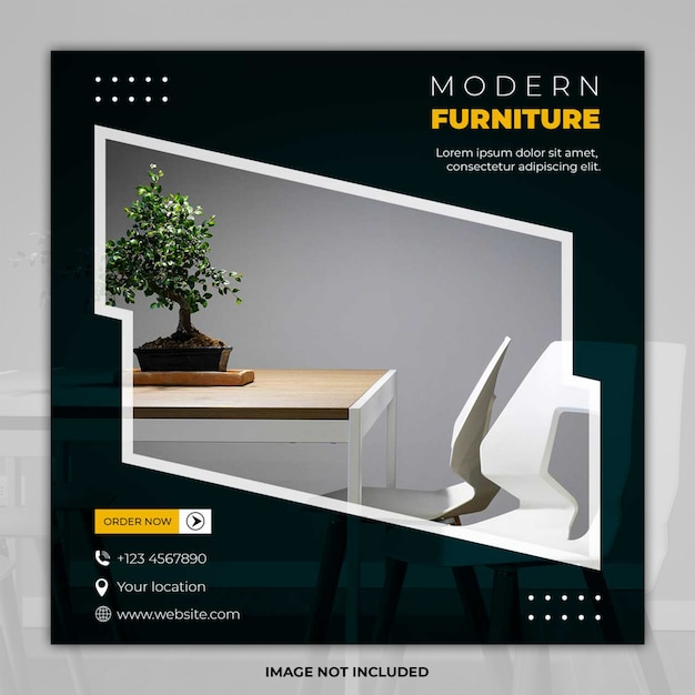 Modern meubilair social media post sjabloon banner Premium Psd