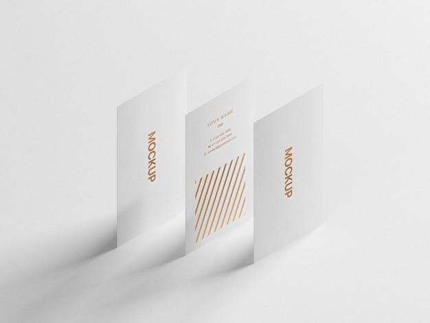 Modern verticaal visitekaartje mockup Premium Psd