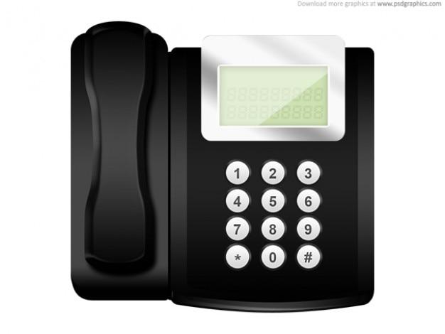 Moderna oficina icono de tel fono psd descargar psd gratis for La oficina telefono