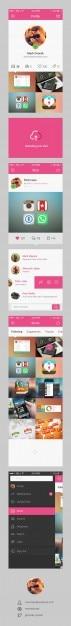 Moderne app-concept psd template Gratis Psd
