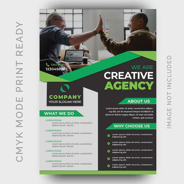 Moderne creative agency business flyer ontwerpsjabloon Premium Psd