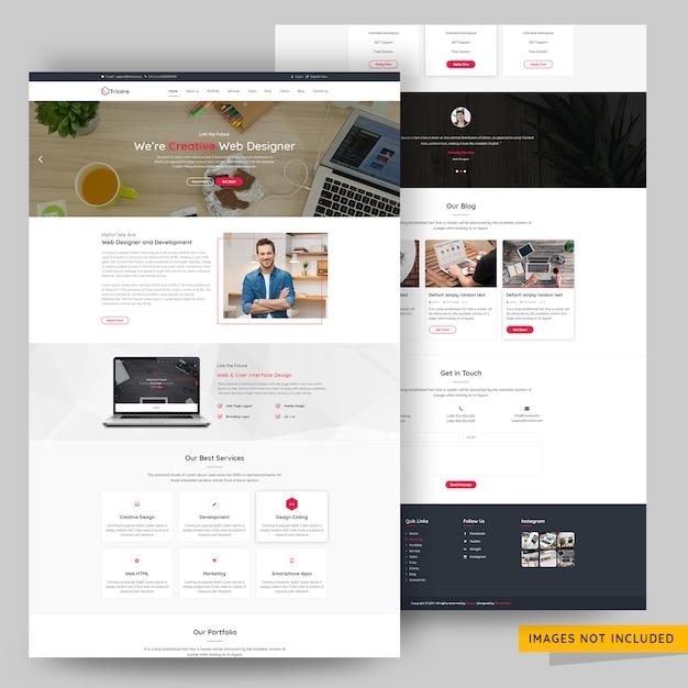 Moderne en creatieve website template agency template premium psd Premium Psd