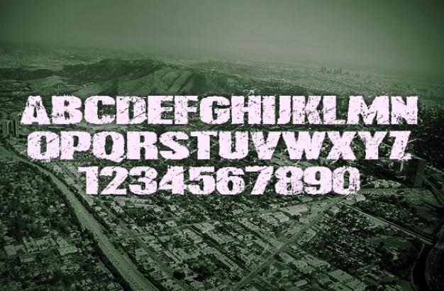 Moderne grunge typografie. Gratis Psd
