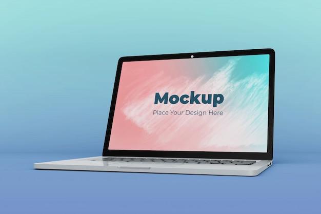Moderne laptop scherm mockup ontwerpsjabloon Premium Psd