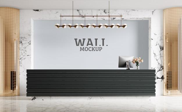 Moderne receptie, luxe. wandmodel Premium Psd